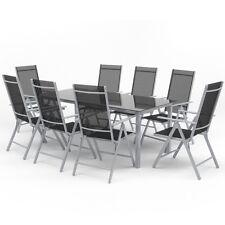 9-tlg Alu Gartenmöbel Set Sitzgruppe Tisch Gartengarnitur Gartenset Sitzgarnitur