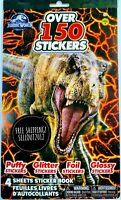 Jurassic World Jurassic Park Movie 150+ Stickers Dinosaur T-Rex Figures Toys NEW