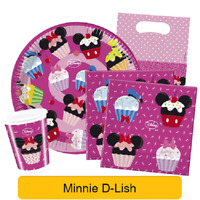 Disney Minnie Mouse D-LISH Birthday Party Range - Tableware Supplies Decorations