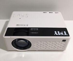 TMY V08 Portable Mini Projector 1080P HD Compatible w/ TV Stick HDMI VGA USB