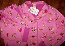 NWT Munki Munki Pink Cotton FLANNEL Pajama Set REINDEER DOGS S Xmas Ornaments