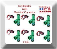 6 Kits Fuel Injector W/ Connectors FJ477 Fits:Town & Country Voyager Caravan