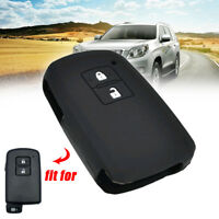 Silicone Key Case Cover For Toyota Camry Auris RAV4 Yaris Remote Fob 2 Button zh