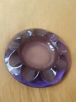Vintage 50-60's Retro Mid Century Heavy Thick Purple Art Glass Ashtray Bowl EUC