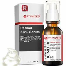 Retinol Serum 2.5% with Hyaluronic Acid, Glycerin, Vitamin E - Reduce Wrinkles,