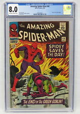 Marvel Comics Amazing Spider-Man #40 CGC 8.0 Origin Green Goblin Lee Romita 1966