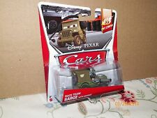 2014 DISNEY PIXAR CARS RACE TEAM SARGE WITH HEADSET FREE U.S SHIPPING