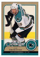 1X JOE THORNTON 2008 09 O Pee Chee #TRU7 OVERSIZE JUMBO 3.5x5 OPC Sharks
