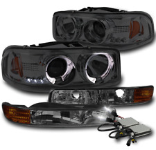 1999+ SIERRA/2000+ YUKON TRUCK HALO LED SMOKE PROJECTOR HEAD+BUMPER LIGHT+8K HID
