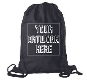 Customized Football Team Backpacks, Personalized Sports Cinch Sacks - 10 Bags