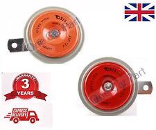 QUALITY 12 VOLT UNIVERSAL FIT CAR HORN DISC TYPE HIGH & LOW TONE 12V -BOAT-VAN