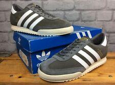Adidas Para Hombre UK 8.5 EU 42 2/3 Beckenbauer Allround Zapatillas Ante Gris Blanco 80S