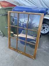 9 Pane Wood Window Vintage Sash Antique Frame Old Shabby Decor Mothers Day Gift
