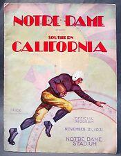 1931 USC SOUTHERN CALIFORNIA at NOTRE DAME historic football program ends streak