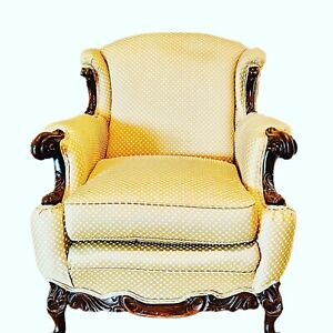 Early 20th Century French Modified Wingback Armchair