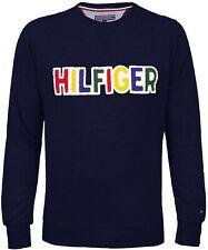 Tommy Hilfiger Pullover Colorful ltd. Rundhals Sweater Sweatshirt Midnight Gr. L