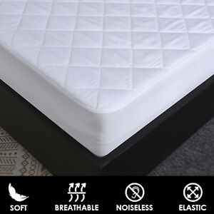 EXTRA DEEP QUILTED 30CM WATERPROOF MATTRESS PROTECTOR FITTED BED COVER ALL SIZES