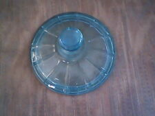 Coin Dot---BLUE GLASS---Round Candy Dish---(Lid Only)---Fostoria