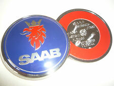 SAAB BONNET BADGE 67 / 68MM 9-3 93 9-5 95 2003-2010 VECTOR TID SPORT AERO TURBO