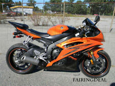 Orange Black Injection Fairing Fit for 2008-2015 Yamaha YZF R6 ABS Bodywork t42