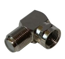 Adaptador conector F angulo 90° macho-hembra de cable coaxial TV satelite antena