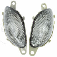 Front Turn Signal NoCut For Suzuki GSXR Euro Light 1300 99-07 Busa Flasher Smoke
