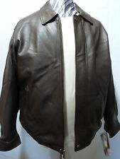 Leather Bomber,Weatherproof, Brown, XL. NWT