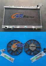Aluminum Radiator+FANS for Nissan N14 GTIR SR20DET Pulsar N15 AT/MT
