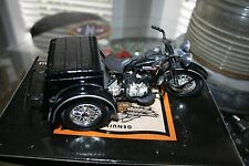 1947 HARLEY-DAVIDSON POLICE SERVI-CAR BANK 1:12 SCALE DIE CAST METAL GENUINE MIB