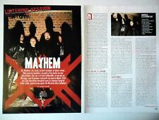 COUPURE DE PRESSE-CLIPPING :  MAYHEM [2pages]2007 Listening Session,Ordo Ad Chao