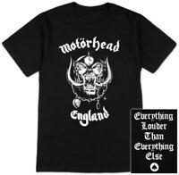 New Motorhead Lemmy Warpig England Black Shirt (SML-2XL) badhabitmerch