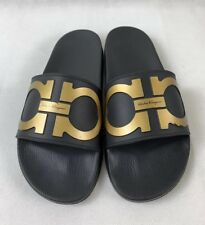 6a445a7c1d1b Salvatore Ferragamo Black Slides Sandals   Flip Flops for Men for ...