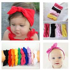 10Pcs Baby Girls Bunny Kids Turban Knot Rabbit Headband Bow Hair bands Headwear