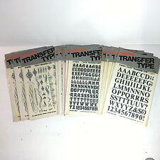 New Cello-Tak® Transfer Type 12 Lettering Packs and 3 Design Packs Rud-on