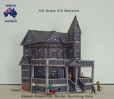 HO Scale Mansion House Old Creepy Model Railway Building Kit - REOM1