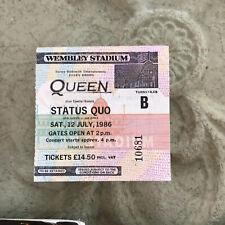 QUEEN And Quo Wembley Concert Ticket And Program
