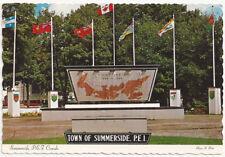 Town of Summerside PEI Canada Vintage Postcard