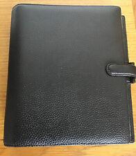 Filofax Finsbury A5 Organizer - Black Grain Leather VGC