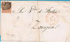 España. Carta con sello de 6 ctos de 1852