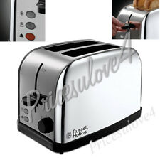 Russell Hobbs 18784 Dorchester 2-Slice Wide Slots Toaster Stainless Steel NEW