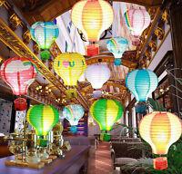 "12"" Hot Air Rainbow Balloon Lanterns Paper Balloon Party Supply-5Color"