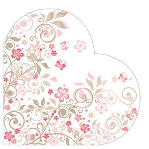 12 Paper Napkins BUTTERFLIES GARDEN HEART DECOUPAGE Valentine's Day Round∅12.6″