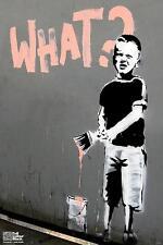 Laminated Banksy Balloon Girl Sign Poster 12x18 Inch