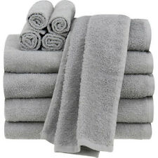 Mainstays Value 10 Piece Grey Bathroom Towel Set For Hand Wash 100% Cotton, NEW