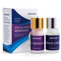 Skin Tag, Wart & Mole Remover Cream & Repair Lotion Set by Aroamas