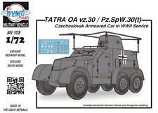 CMK Planet MV108 1/72 Resin WWII German Tatra OA Pz.Sp. W vz. 30(t) Armored Car