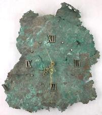 Raw Copper Wall Clock W/ Roman Numerals Lot 2000