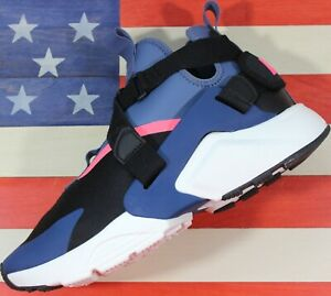 Nike Air Huarache City Womens Running Shoe Black/Navy/Racer-Pink [AH6787-002] 12