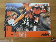HAP-007 KTM BROCHURE  ENDURO 2007 ALL MODELS PROSPEKT,ARO,KNIGHT 250 ECF-1