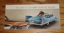 Original 1960 Plymouth Full Size Car Sales Brochure 60 Fury Belvedere Savoy